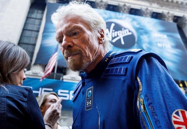 En la imagen un registro de Richard Branson, fundador de Virgin Galactic, en Nueva York (NY, EE.UU.). EFE