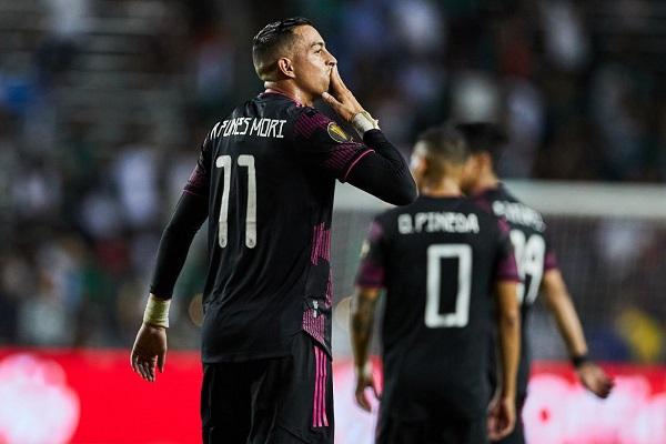 Funes Mori anotó en dos ocasiones para la selección mexicana. Foto Cortesía: @GoldCup