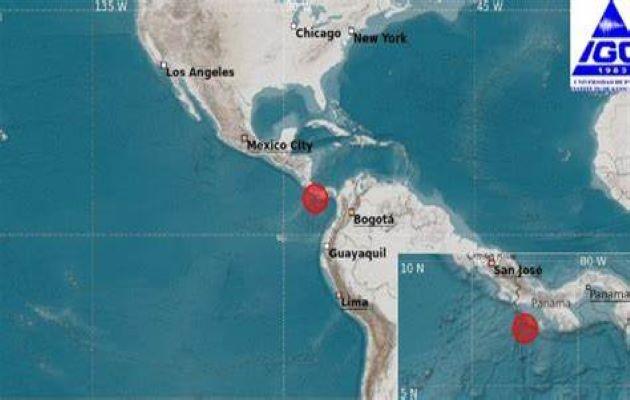 El miércoles 21 de julio se registró el segundo sismo de más de 6.0 grados en Panamá, en cinco días. Foto: Instituto de Geociencias