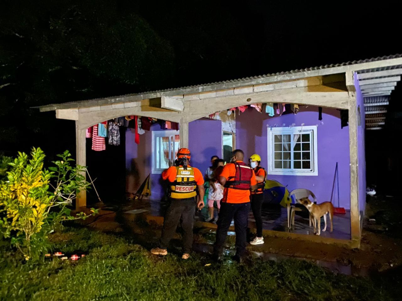 Seis viviendas resultados afectadas en la comunidad de San Andrés. Foto: Melquiades Vásquez