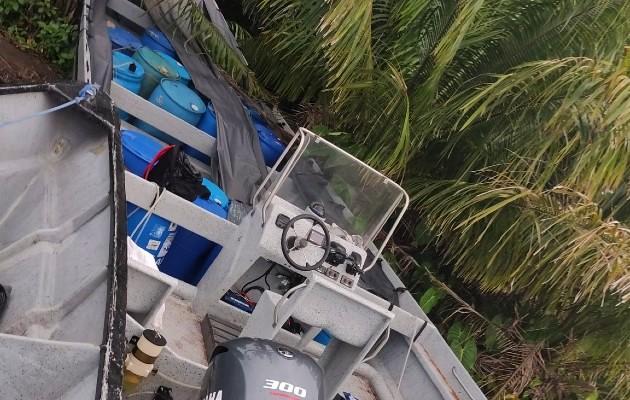 La interdicción de la lancha y el decomiso de la sustancia ilícita se logró en las cercanías a isla Colón. Foto: Maya Madrid