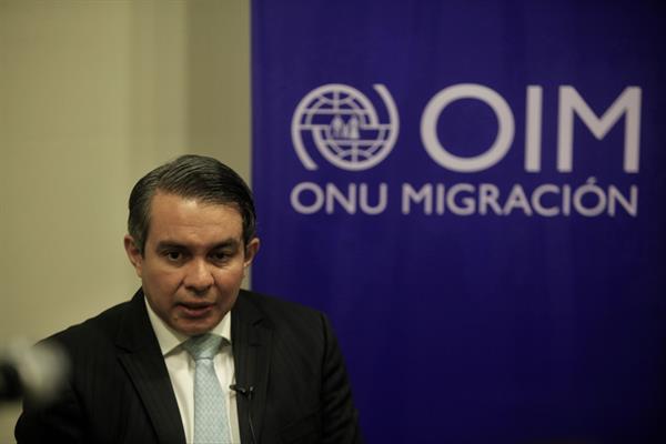 El jefe de Misión de la Organización Internacional para las Migraciones (OIM) en Panamá, Santiago Paz. Foto: EFE