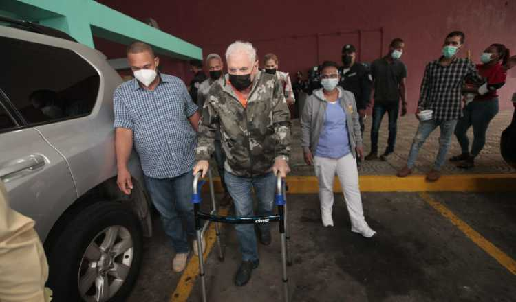 El expresidente de la República, Ricardo Martinelli, a pesar de estar incapacitado ha asistido a algunas de las audiencias de juicio oral. Foto: Víctor Arosemena