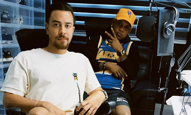 'BK' y 'Yemil' en el estudio de grabación. Foto: Instagram