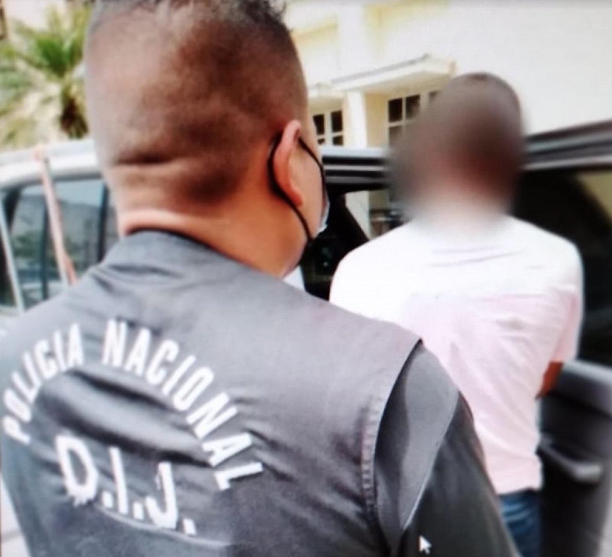 La captura de este hombre se hizo efectiva en el distrito de Barú, en una comunidad limítrofe entre Panamá y Costa Rica.  Foto: Mayra Madrid