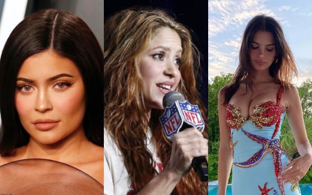 Kylie Jenner, Shakira y Emily Ratajkowski. Fotos: Archivo / EFE / Instagram