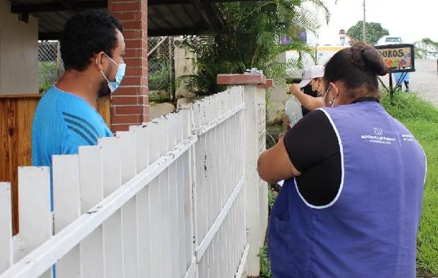 Realizan pruebas de hisopados de antígeno casa por casa en San Miguelito. Foto: Cortesía Minsa