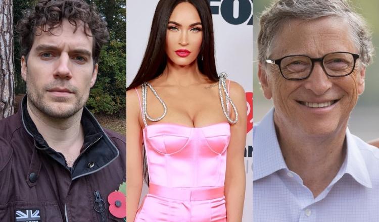 Henry Cavill, Megan Fox y Bill Gates. Instagram