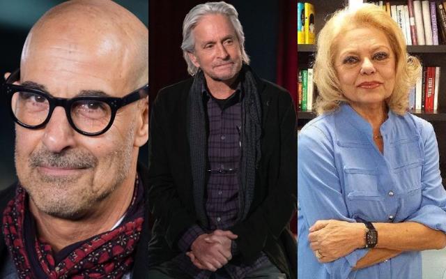 Stanley Tucci, Michael Douglas y María Teresa Campos. Fotos: Internet / Instagram