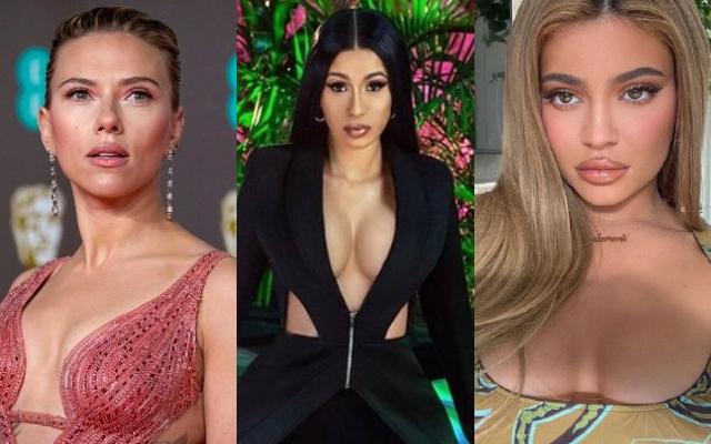Scarlett Johansson, Cardi B y Kylie Jenner. Fotos: Archivo / Instagram