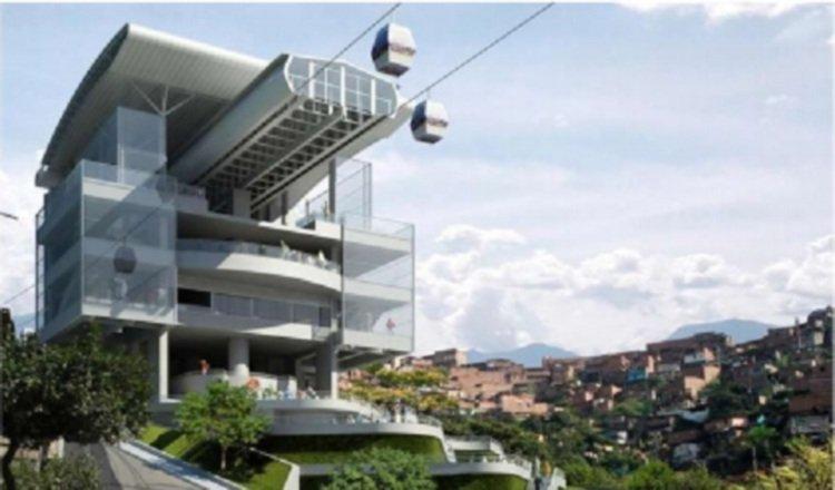Diseño conceptual de una de las estaciones del metrocable.