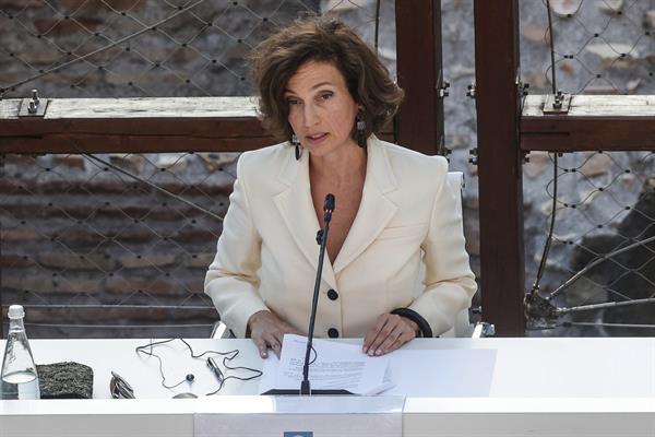 La directora general de la Unesco, Audrey Azoulay en una imagen de archivo. EFE