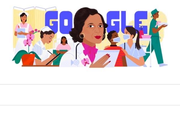 Doodle que aparece en la página de búsqueda de Google.