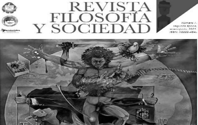 Portada de la Revista Filosofía y Sociedad de enero-junio de 2021. Foto: Diseño: Paola Rodríguez