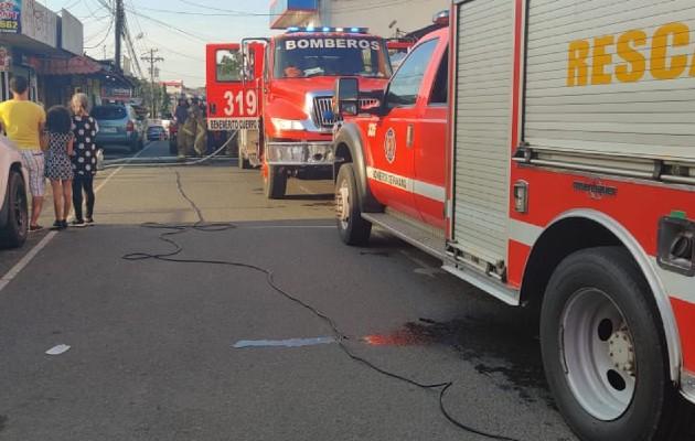 Por segunda ocasión durante esta semana se registra un incendio en el distrito de La Chorrera. Foto: Eric Montenegro