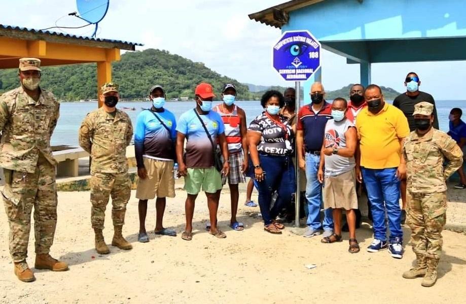 El acto formal efectuado esta semana contó con autoridades de Portobelo y oficiales del Senan. Foto: Diómedes Sánchez