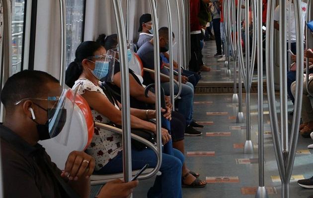 El uso de careta es obligatorio en el Metro de Panamá. Foto: Cortesía Metro