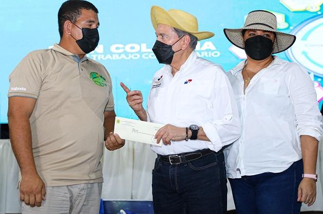 El presidente Laurentino Cortizo cerró hoy una gira de trabajo comunitario en la provincia de Los Santos. Foto: Cortesía Presidencia