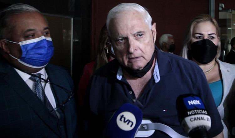 El expresidente Ricardo Martinelli dijo ayer que finalmente la opinión pública podrá escuchar lo que se ha dado en el juicio. Foto Víctor Arosemena