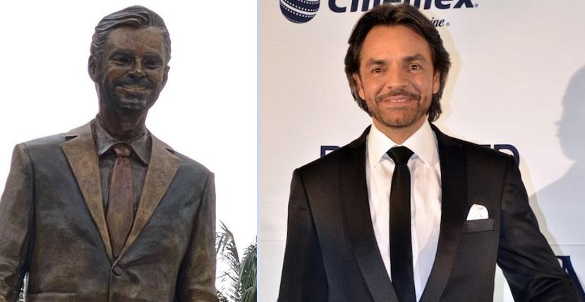 Pueblo está en desacuerdo con la estatua del actor. Twitter: @eyc1104 /Archivo