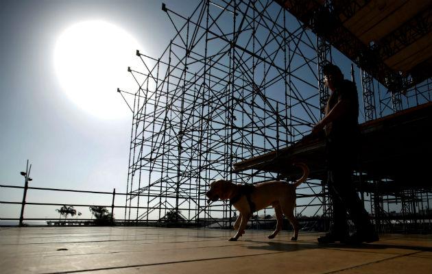 Panamá ultima detalles en tarimas para la Jornada Mundial de la Juventud. Foto/EFE