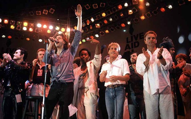 Live Aid fue una iniciativa del cantante y actor Bob Geldof. Foto: Archivo