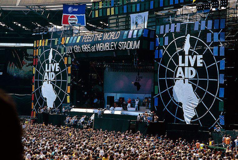El estadio Wembley, en Londres (Inglaterra), fue el escenario para la parte europea del Live Aid. Foto: Archivo.