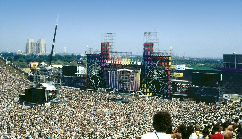 La parte americana del concierto se realizó en el estadio John F. Kennedy den la ciudad de Filadelfia, Estados Unidos. Foto: Archivo.
