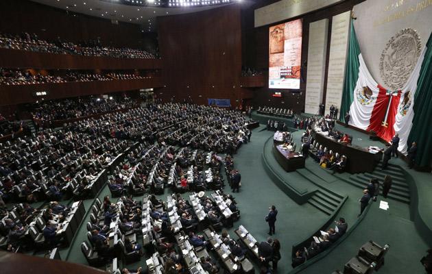 El Senado mexicano en pleno en la toma de posesión de Andrés Manuel López Obrador. FOTO/AP