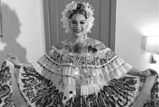 La pollera que lució Margarita Henríquez en Viña del Mar. Foto: Archivo.