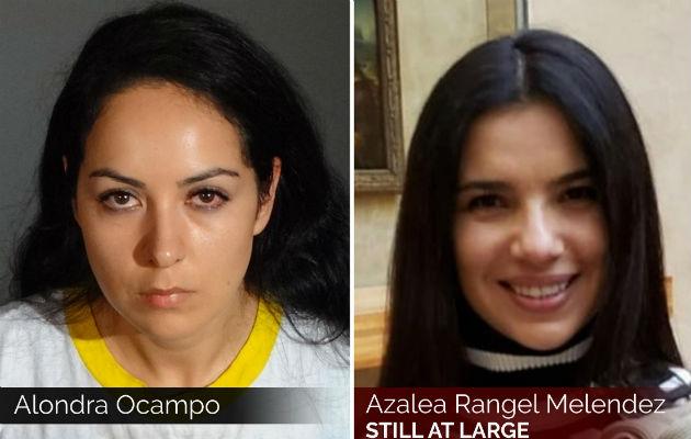 Alondra Ocampo (izq.) y Azalea Rangel Melendez (der). Foto:AP.
