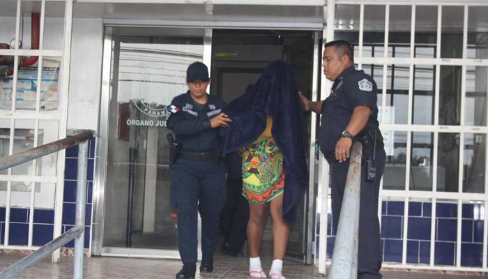 Wilda Dean de 25 años, una de la implicadas en el caso del secuestro de un infante en El Tecal. Foto/Eric Montenegro