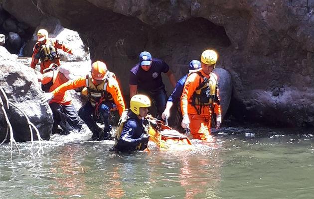 El cuerpo fue ubicado a la altura de Alto Boquete. Foto: José Vásquez.