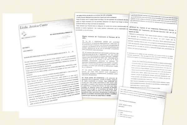 La carta, con copia a organismos internacionales, advierte que Martinelli es sometido a tratos crueles en dicho penal, así como a un aislamiento ilegal.