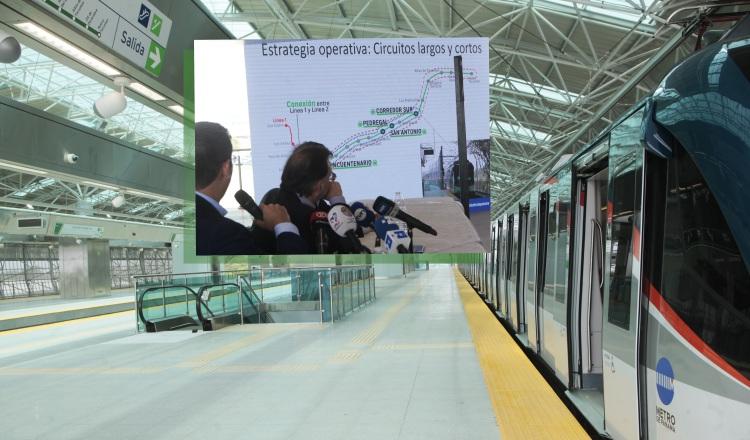 Desde la estación Corredor Sur operará un circuito largo y otro corto. Víctor Arosemena