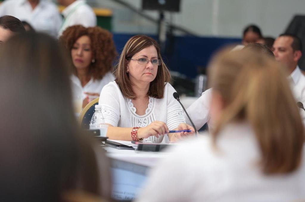 La ministra Rosario Turner (Izq.) durante el Consejo de Gabinete. Foto: Panamá América