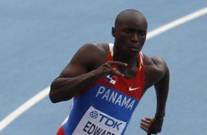 El velocista panameño Alonso Edward. Foto: AP