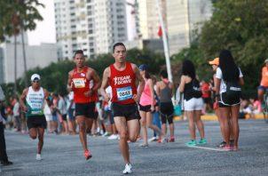 Corredores durante la Maratón Internacional a la Ciudad de Panamá.