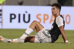 Juventus no ha podido ganar en los últimos tres partidos y Cristiano lamenta el empate ante Sassuolo . Foto:EFE