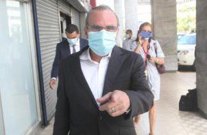 El exjefe del Consejo de Seguridad, Rolando López, acudió ayer al Ministerio Público.