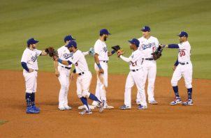 Jugadores de los Dodgers Foto: Twitter