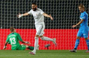 Karim Benzema la esperanza goleadora del Real Madrid. Foto:EFE