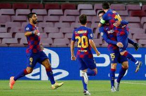 Jugadores del Barcelona de España-. Foto:EFE