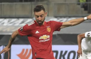 El portugés Bruno Fernandes anotó un gol. Foto:EFE