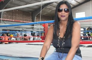 Rouss Laguna, promotora de boxeo. Foto: Cortesía