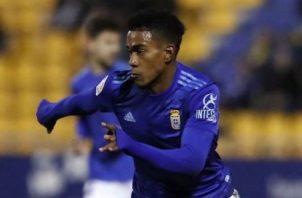 Edgar Yoel Bárcenas jugó en las dos últimas temporadas con Real Oviedo. Foto:Twitter.