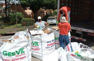El reciclaje fue otras de las actividades que se vio afectada por la pandemia.