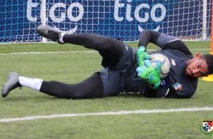 José Calderón en los entrenamientos de la selección panameña.