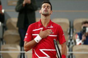 El serbio Novak Djokovic. Foto:EFE