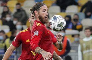 Sergio Ramos, capitán de España. Foto:EFE